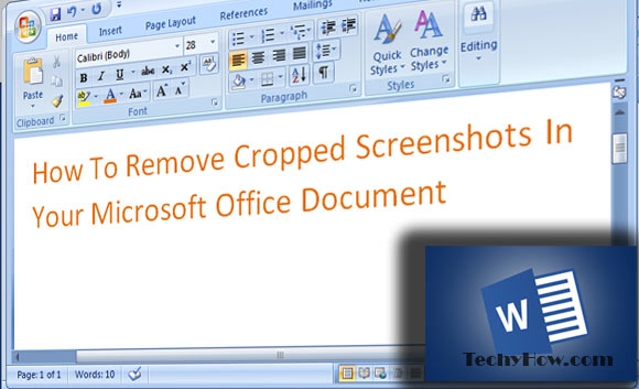 techyhow.com-Remove-Cropped-Screenshots-In-Your-Microsoft-Office-Document