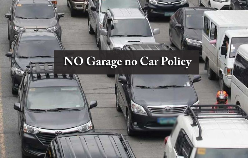 No garage, no car
